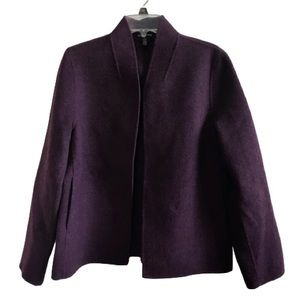 Eileen Fisher Open Wool Jacket